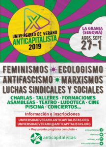 X Universidad de Verano de Anticapitalistas @ La Granja